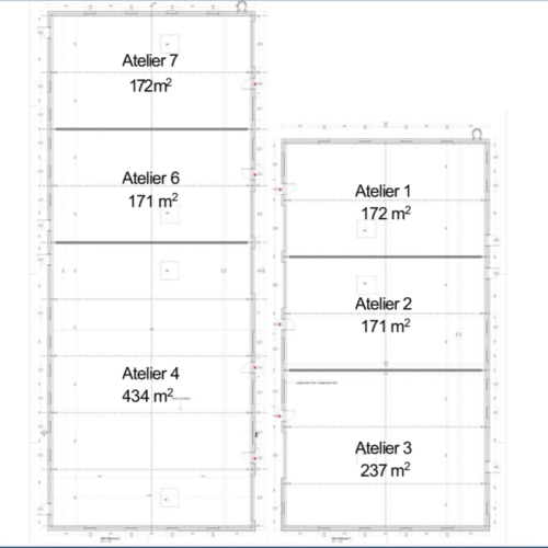 Location locaux d'activités/bureaux/entrepôts/ateliers 400m2 Grand Charmont - Doubs (25)