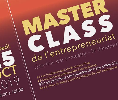 Masterclass de l'entrepreneuriat sur «Les principes comptables de base utiles à la start-up»