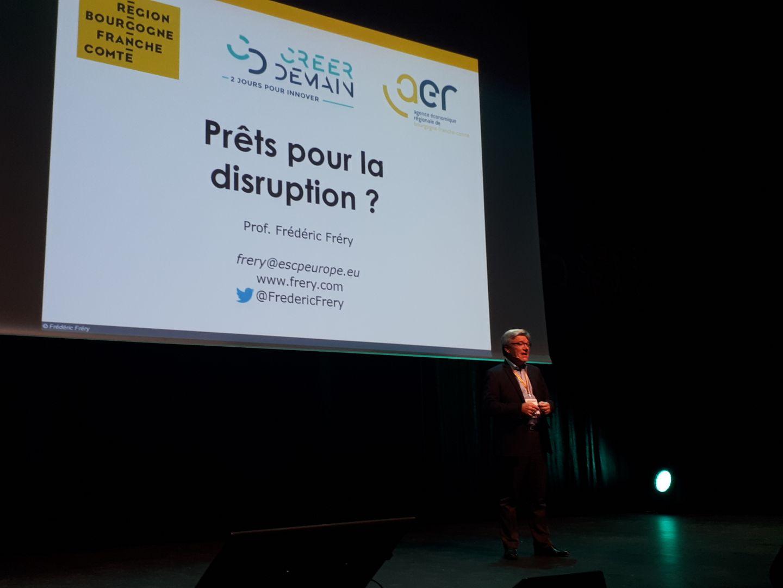 Photo conférence Frédéric Frery, Créer Demain 2019