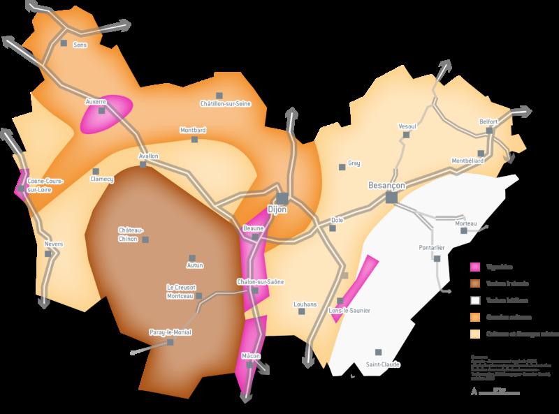 Carte alimentation en Bourgogne-Franche-Comté