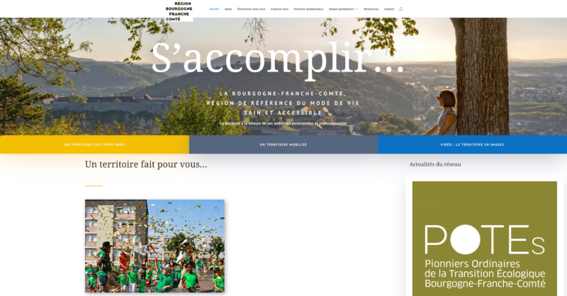 Visuel site attractivité Région BFC
