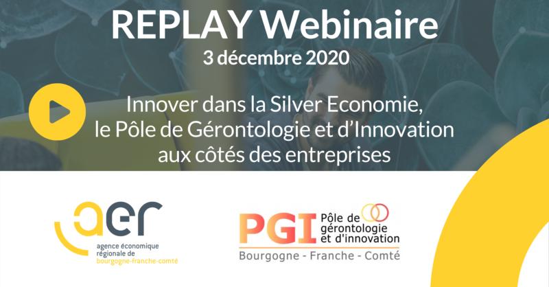 Visuel webinaire Innover dans la Silver Economie