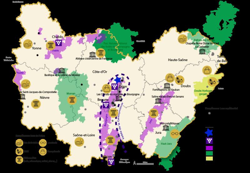 Carte ecosystème Luxe en BFC