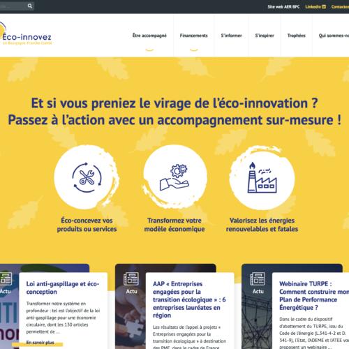 Nouveau site web «Éco-innovezen Bourgogne-Franche-Comté»